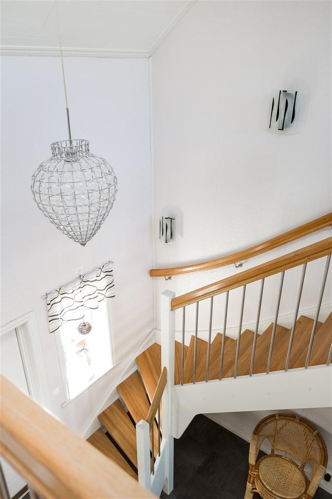Härlig trappa upp till övervåningen