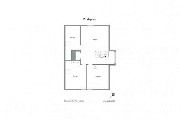 Vindsplan lägenhet nr 2
