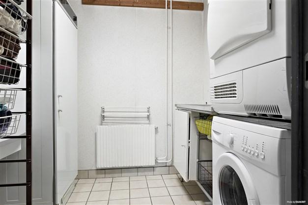 Tvättstuga med klinker