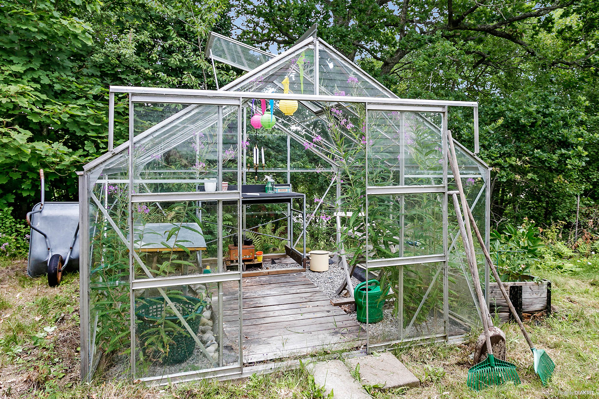 Växthus.