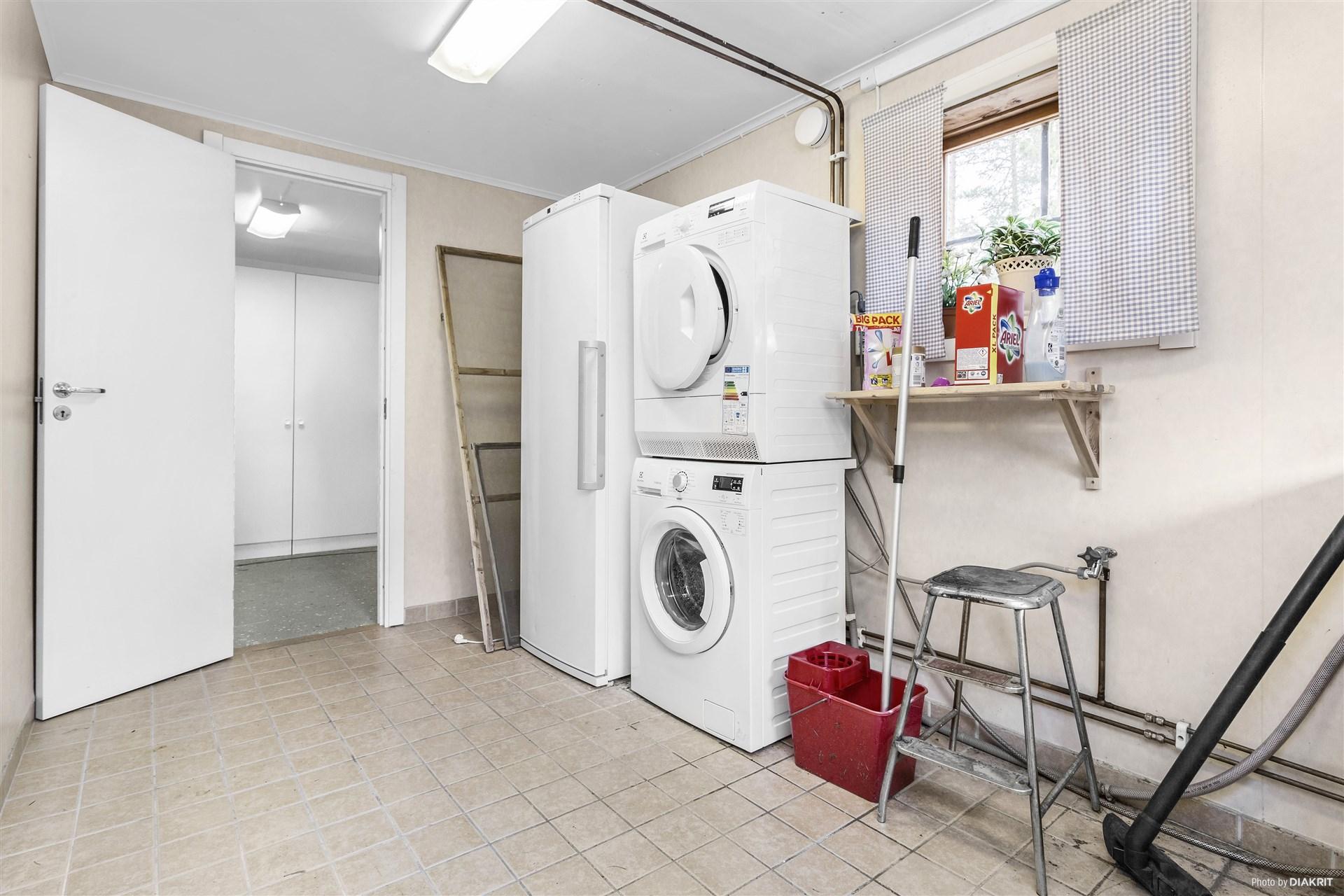 Tvättstuga i garage
