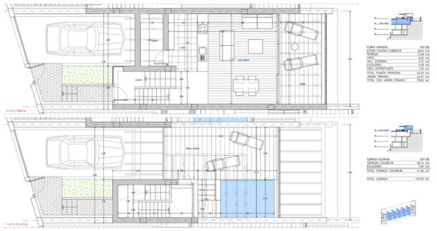 Planlösning - Entréplan och takterrass