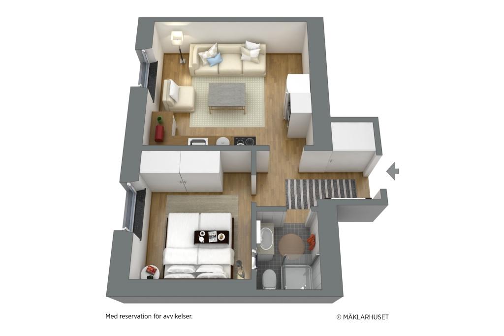 3D möblerad