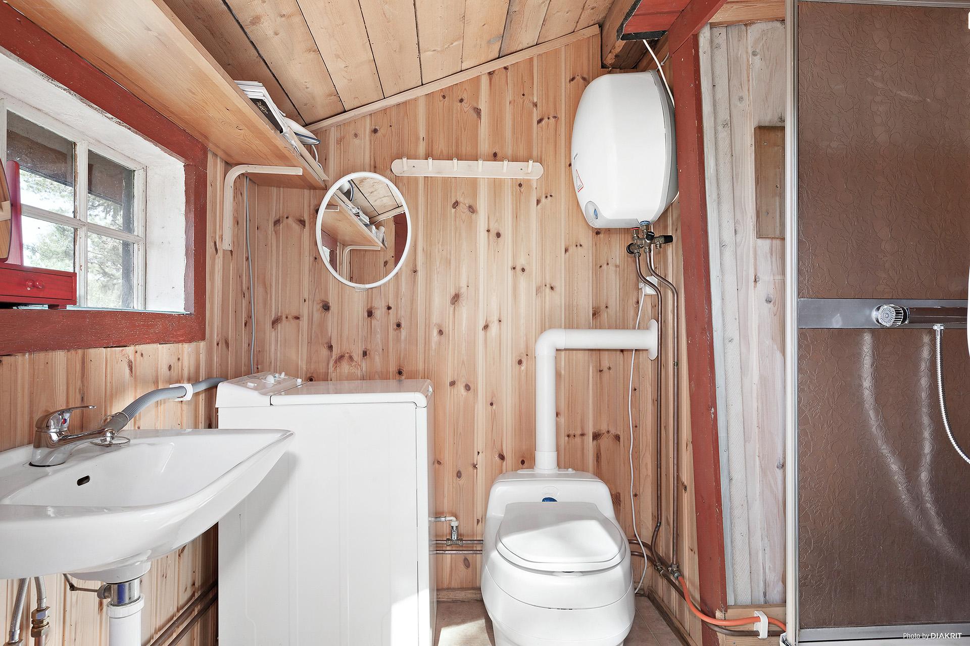 Dusch/hygienutrymme vidbyggt gäststuga