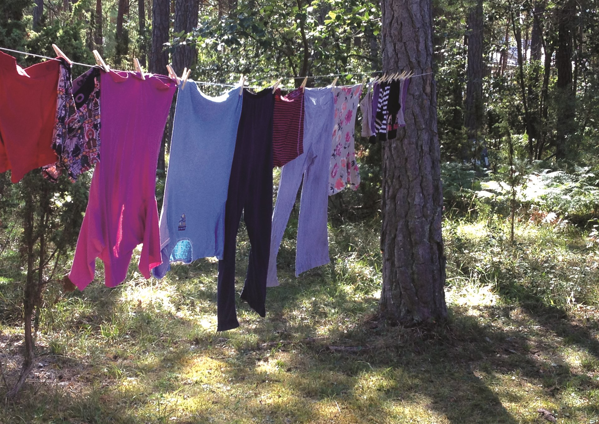 Torka din tvätt i det fria
