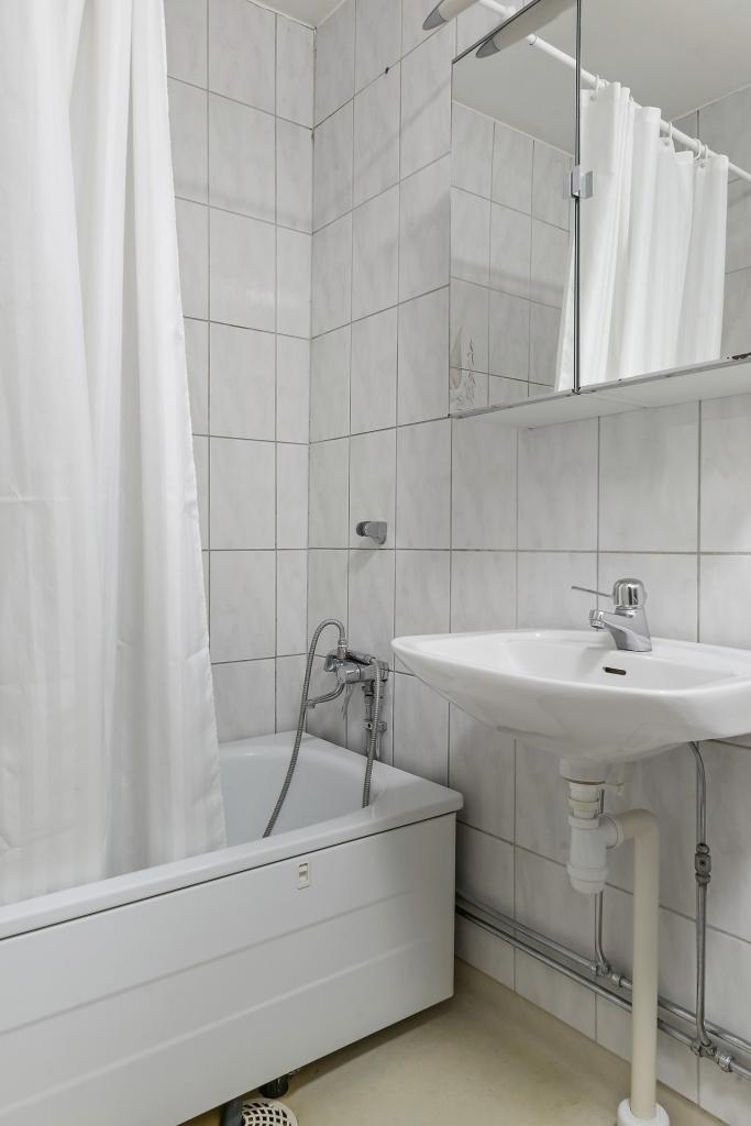 Badkar och tvättställ