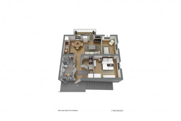 Möblerad 3D-planskiss
