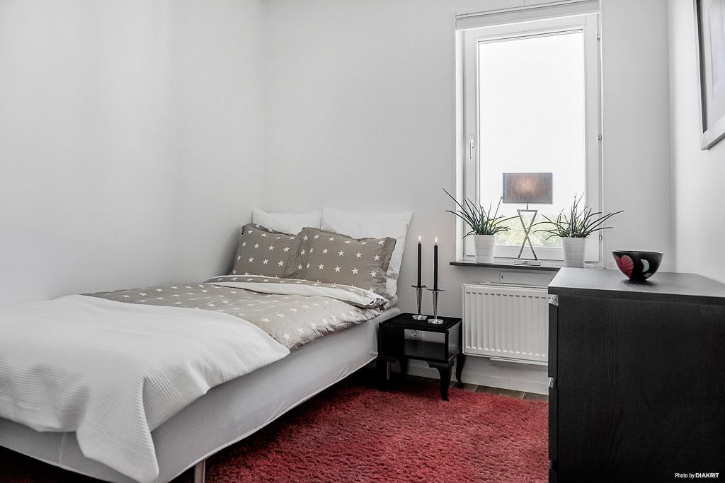Ett av de mindre sovrummen