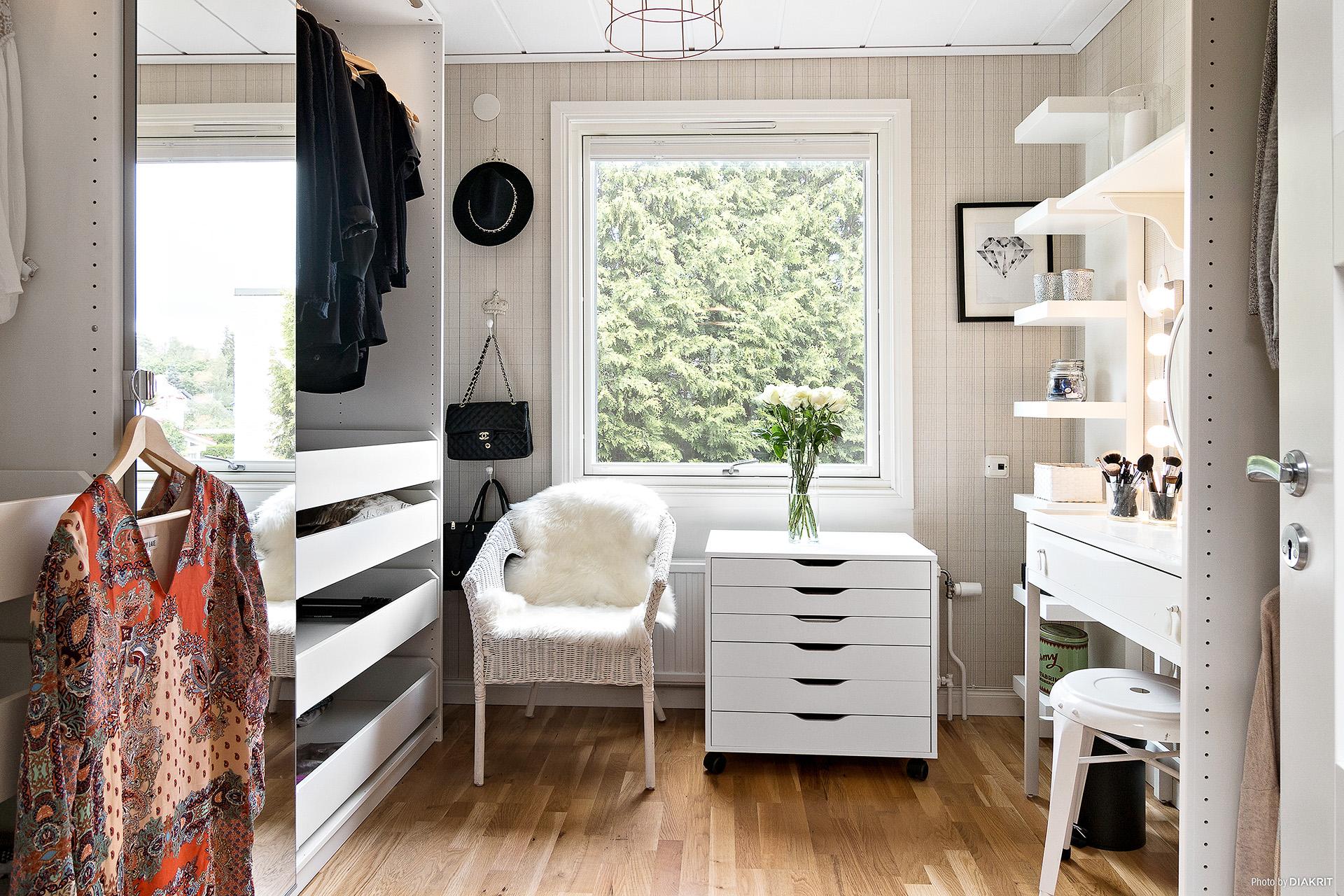 Walk-in-closet, alternativt sovrum
