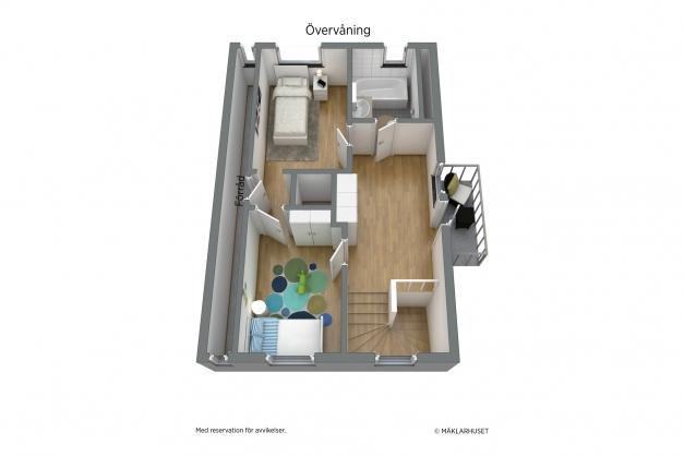 Planskiss 3-D övre plan.