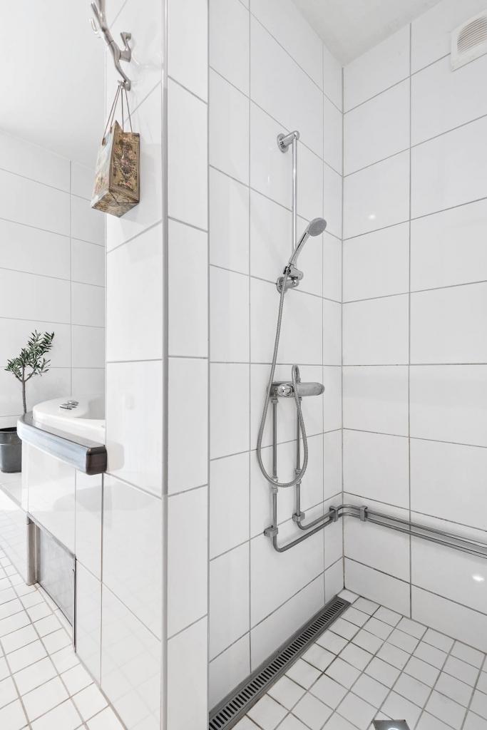 Dusch i badrummet