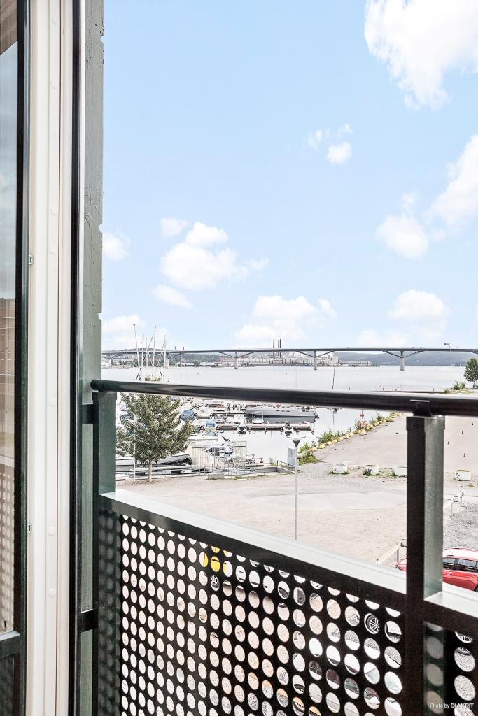 Utsikt från fransk balkong