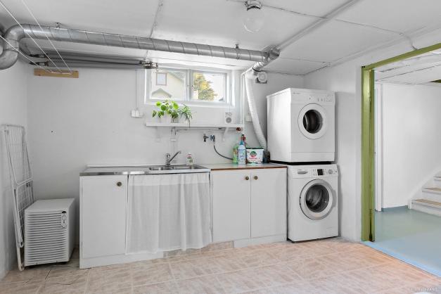 Fräsch tvättstuga.