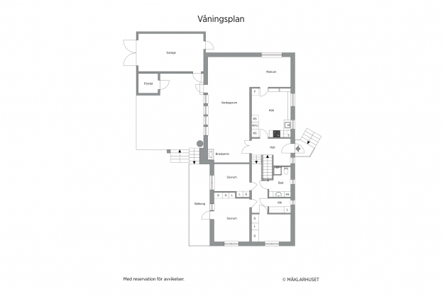Entréplan /garage/uteplats
