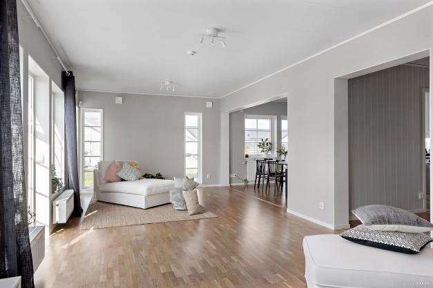 Vardagsrummet och intilliggande matrum eller som här, en vilhörna