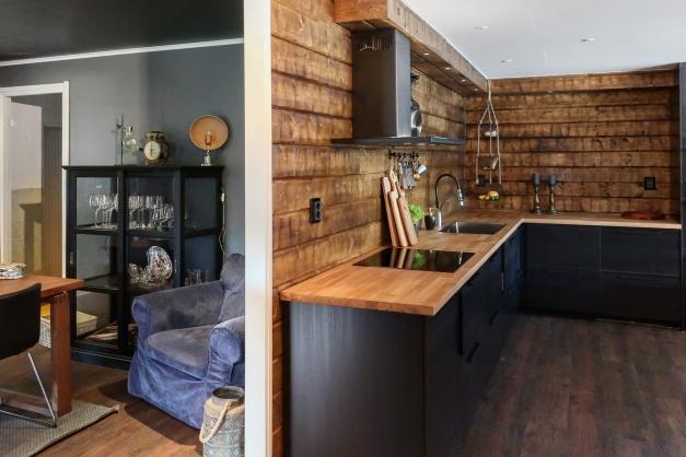 Del av matrum och kök