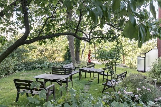 Föreningens gemensamma trädgård.