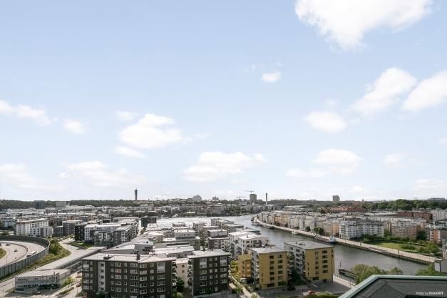 Utsikt från takterassen.