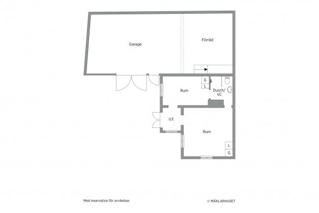 Planritning Lillstugan och garage