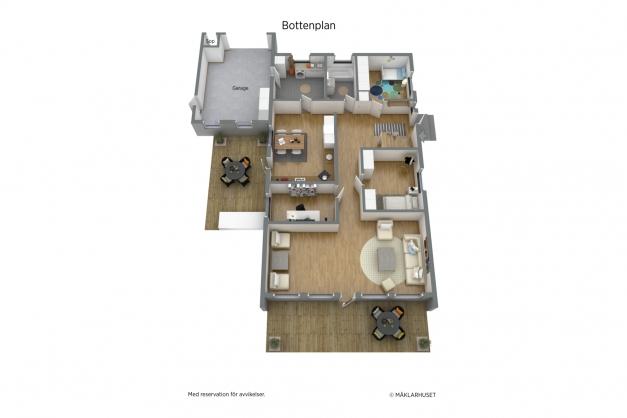 Planritning 3D bottenvåning