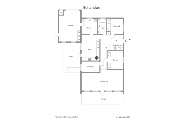 Planritning 2D bottenvåning