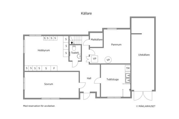Planritning källarplan tegelhuset.