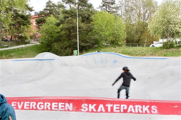 Tony Hawk lär inspirera även i denna park...stora som små :-)