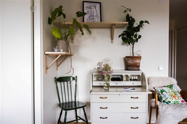 Möblerbar hörna i vardagsrum