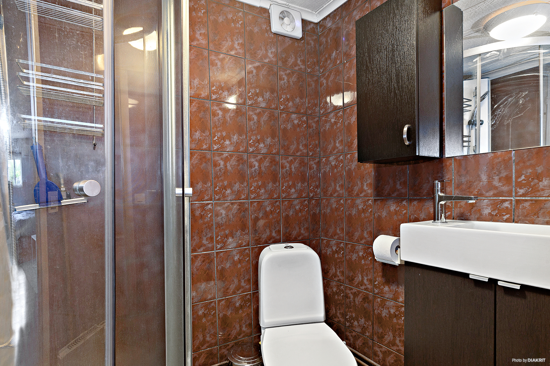 Duschrum i gästhus