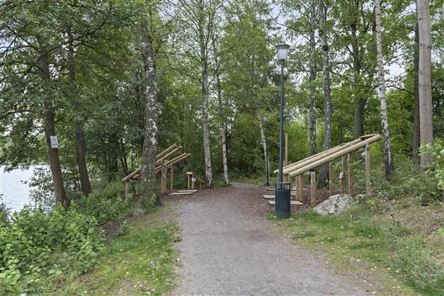 Fina promenadstråk runt Långsjön