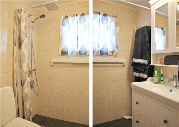 Nyrenoverad wc/dusch