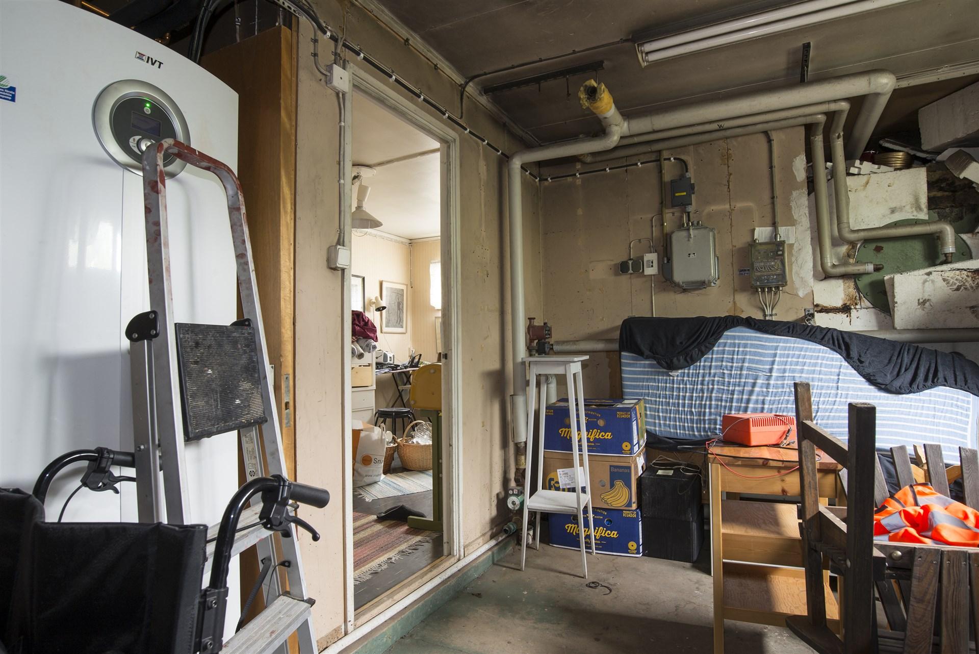 Pannrum i garage