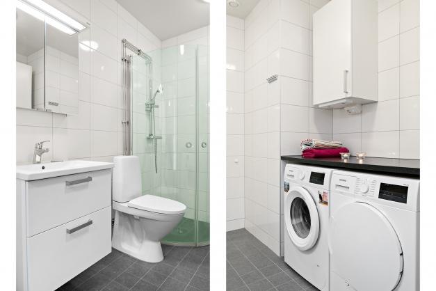 Duschrum med tvättdel