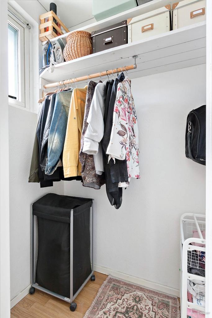 Klädkammare i sovrummet