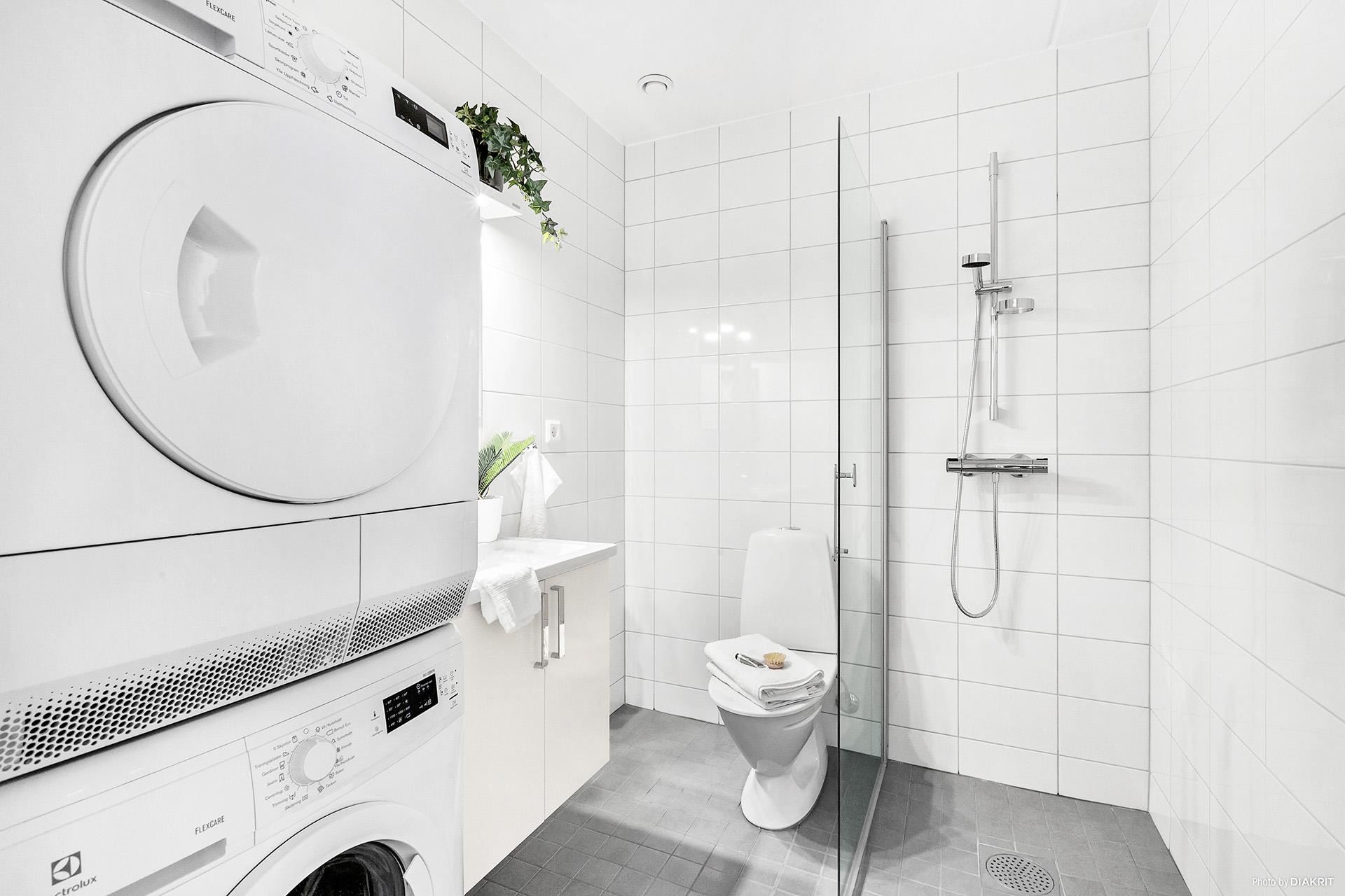 Kombinerat duschrum/tvättstuga