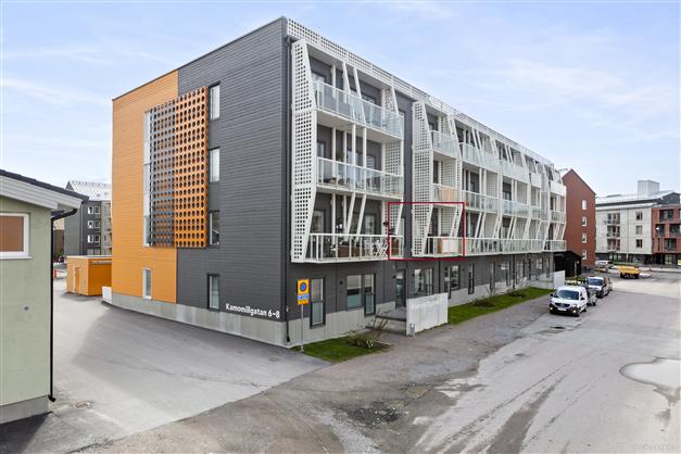Entrésida, lägenheten är belägen på våning 2