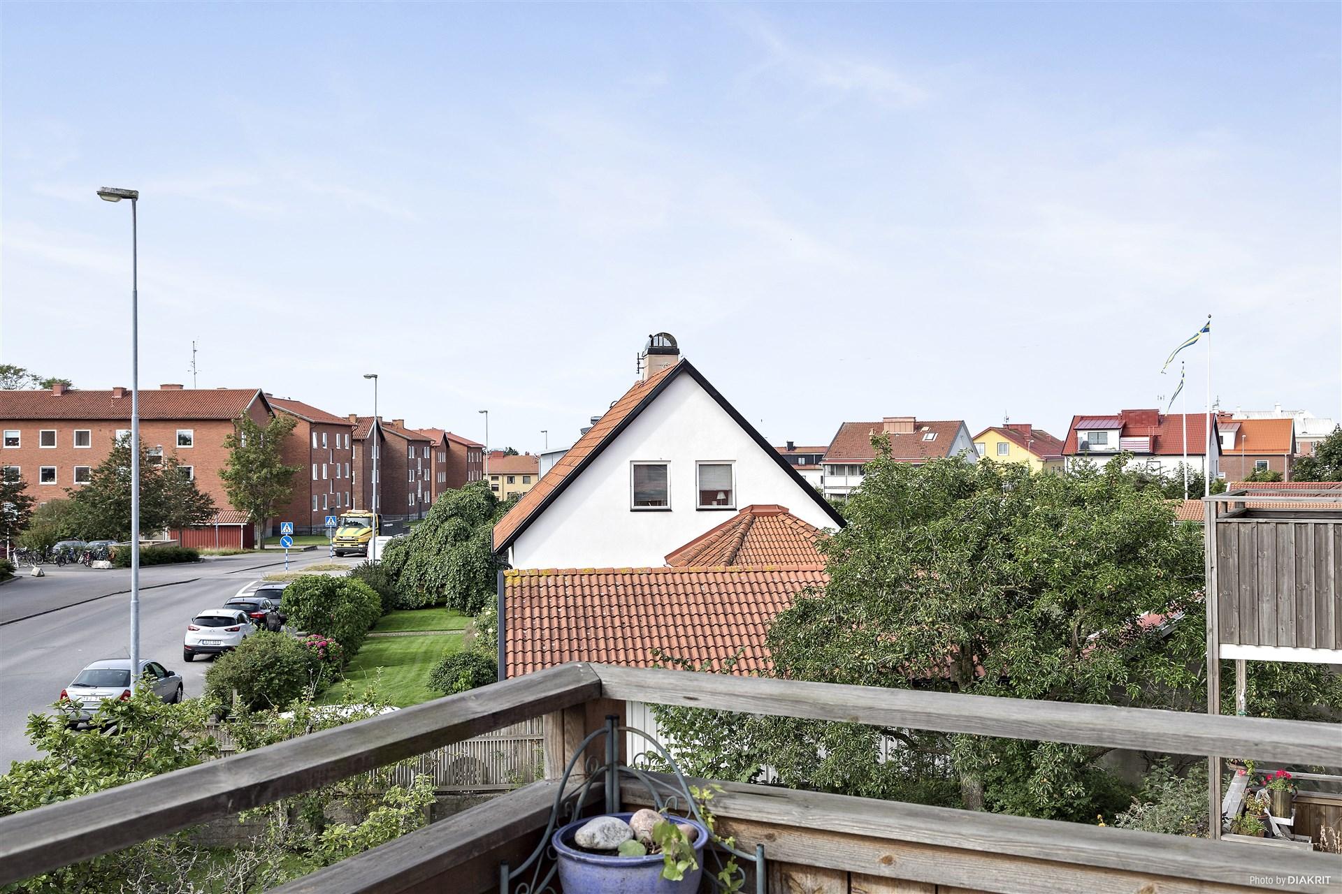 Skön vy från balkongen