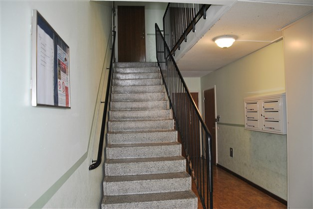 En trappa upp till lägenheten