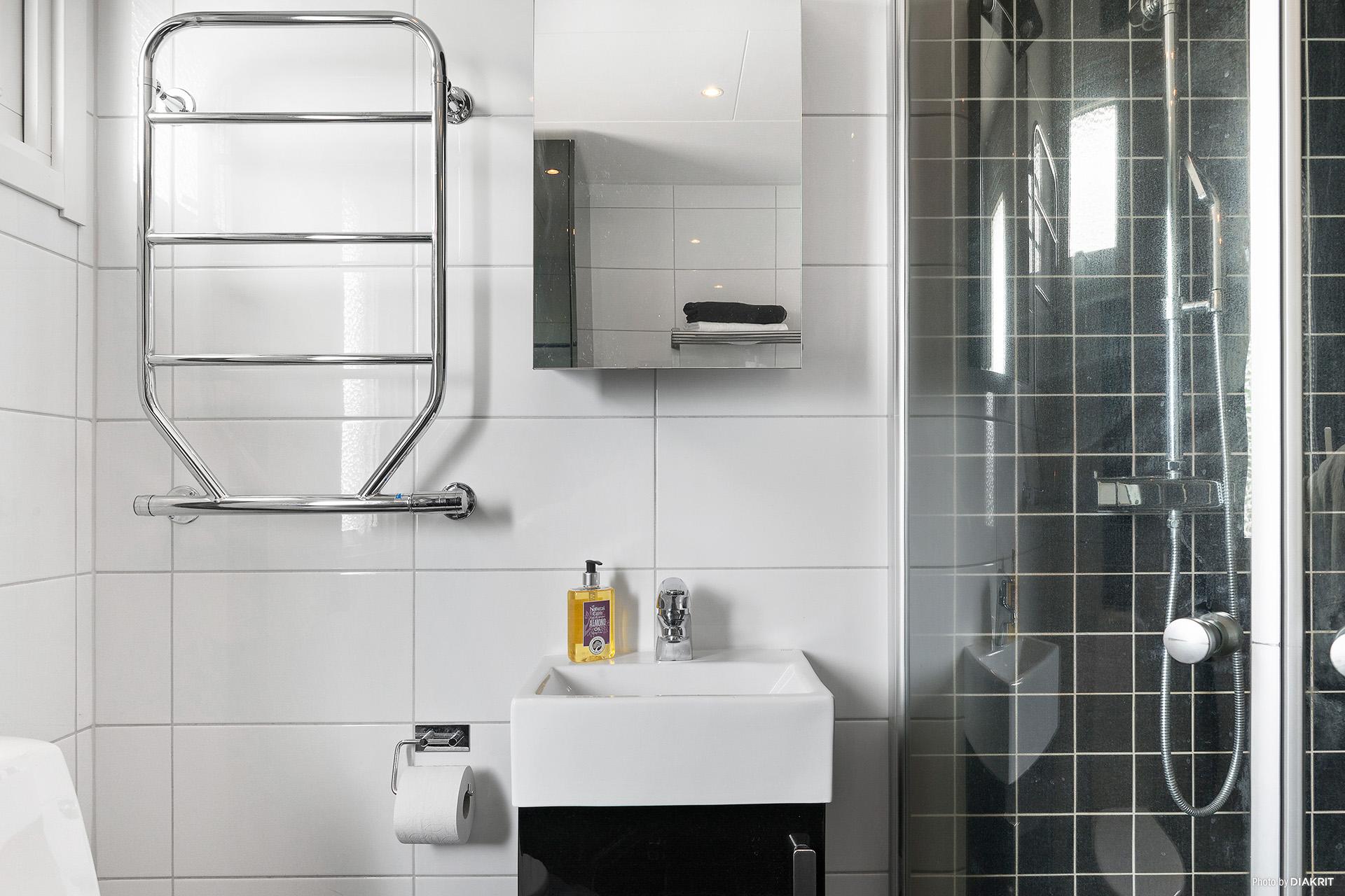 Duschhörn, handfat och wc