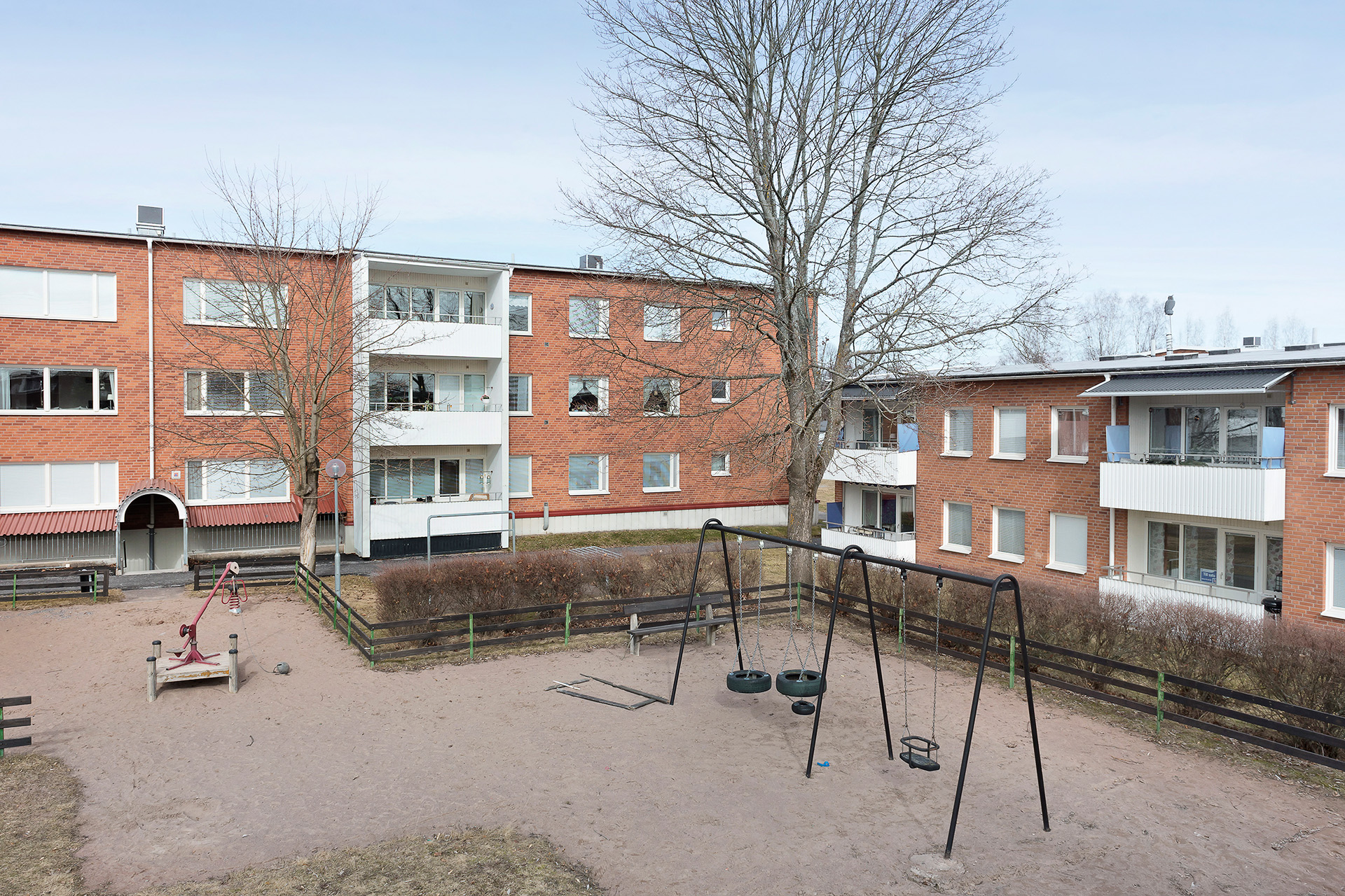 Lekpark på innergården