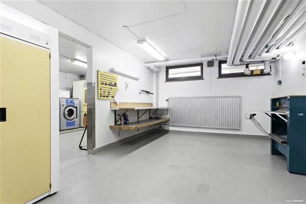 En av föreningens tvättstugor med torkrum och strykrum