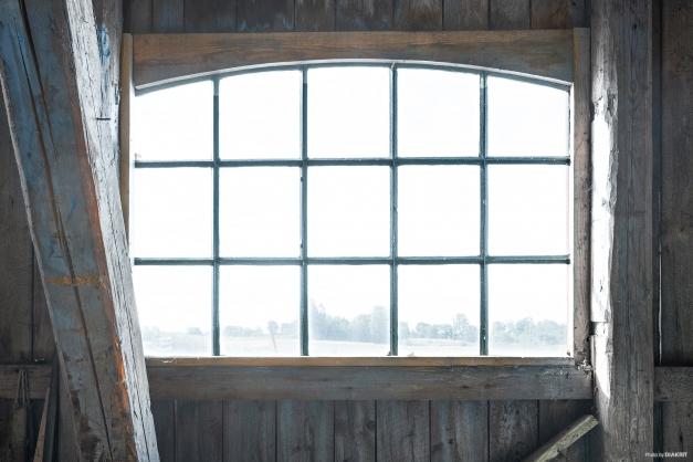 Detaljbild vackra smidesfönster