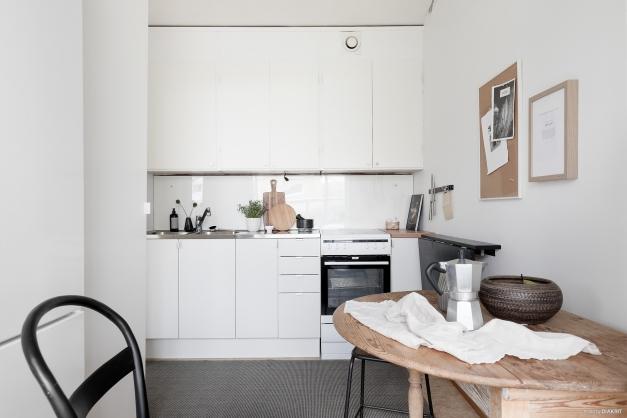 Det finns plats för ett mindre köksbord