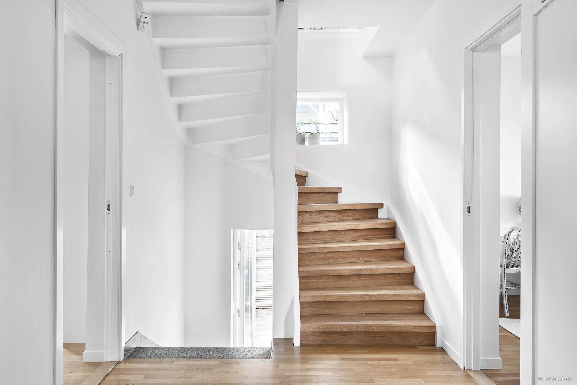 trappa från våning 2 upp till vindsplanet