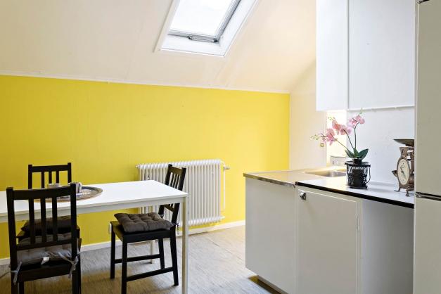 Lgh 1 i annexet: Kök med takfönster