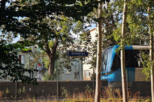 Bara två minuter till T-banan i Svedmyra
