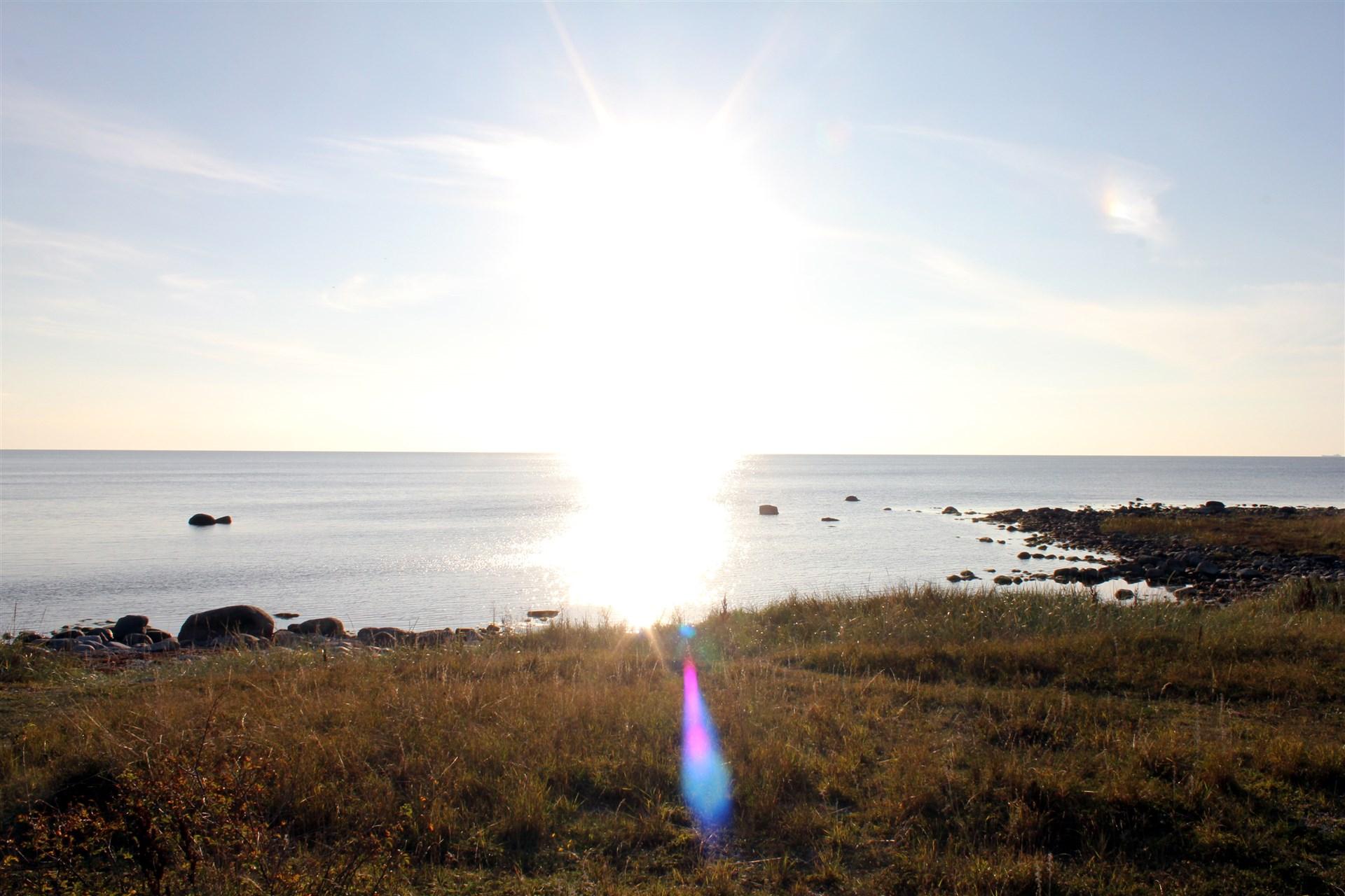 Stranden nere vid Kinnerviken