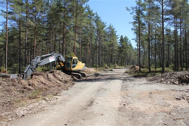 Bro Ljungvägen som kommer få asfalt