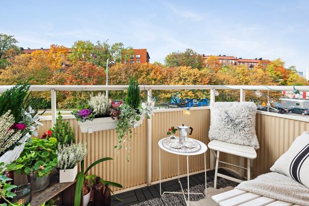 Härlig balkong i västläge