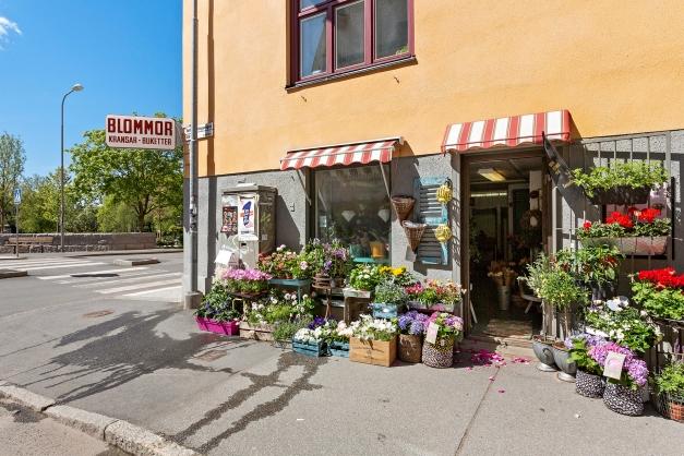 Många trevliga affärer och butiker